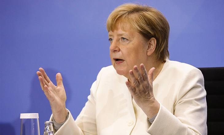 Angela Merkel bei Pressekonferenz