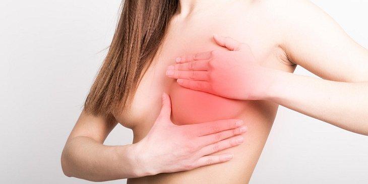 Brustkrebs-Symptom Knoten