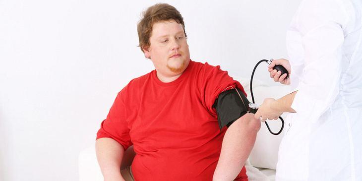 Adipositas-Diagnose mitteln Blutdruckmessung