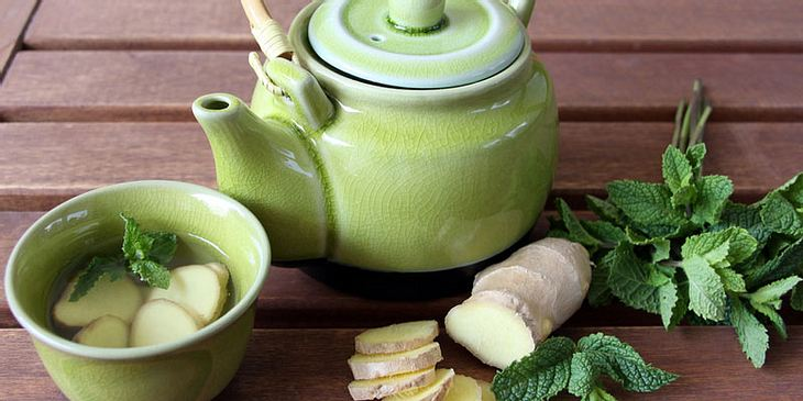 Inger-Pfefferminz-Tee