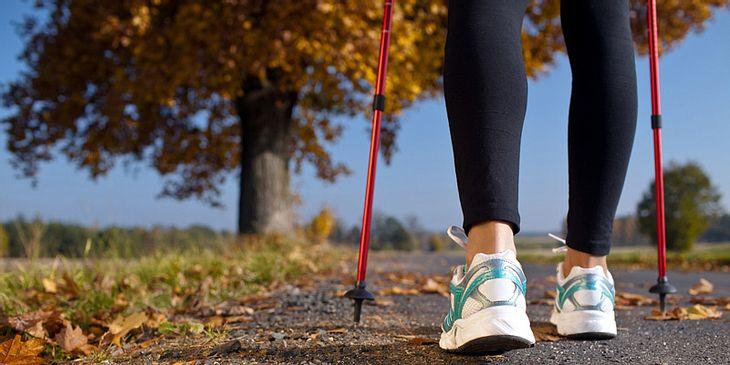 Knieschmerzen vorbeugen mit Nordic Walking