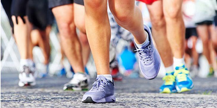 Krampfsituation Marathonlauf