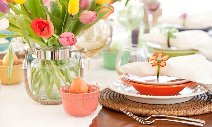 Gedeckter Tisch – Osterbrunch