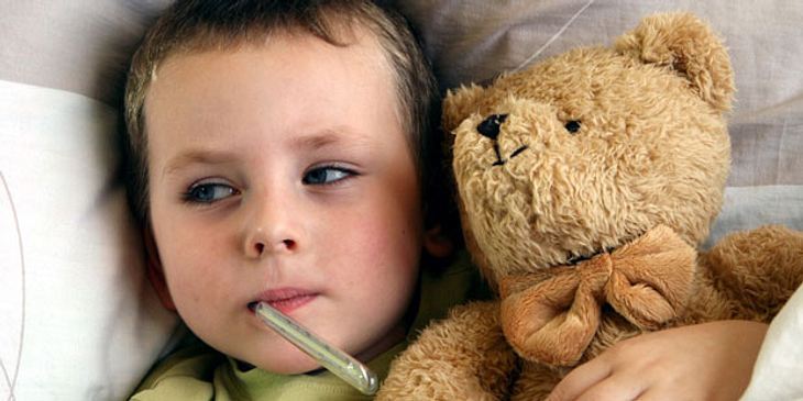 Kind mit Erkältung