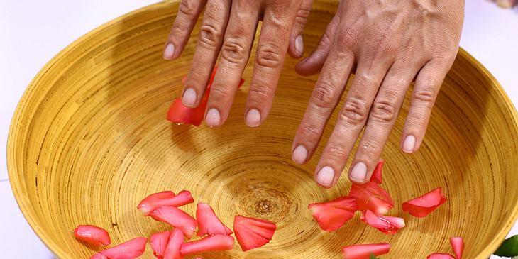 Arthrose im Finger: Handbad