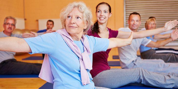 Bei Arthrose im Wirbelgelenk: Muskelaufbau