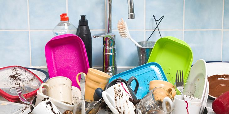 Schmutzige Küche macht dick