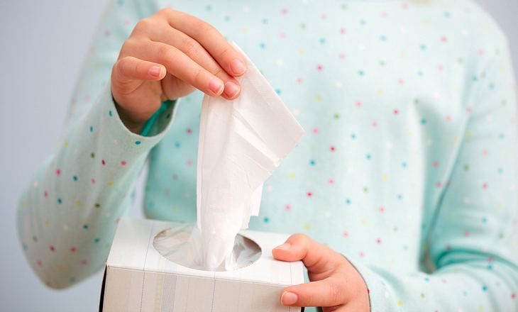Taschentücher bei Nasennebenhöhlenunterzündung