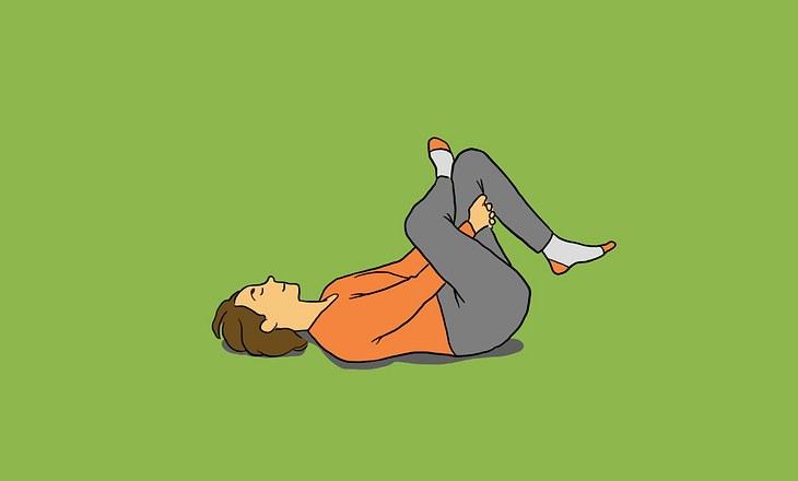 Yin-Yoga-Pose Nadelöhr als Illustration