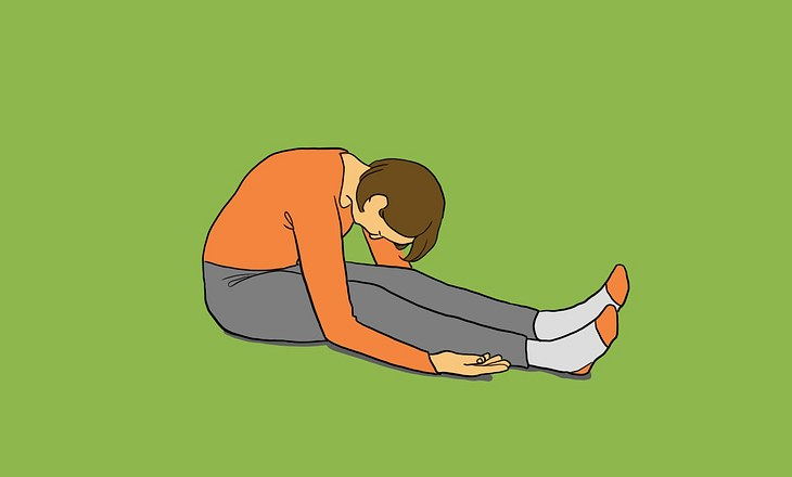 Yin-Yoga-Pose Raupe als Illustration