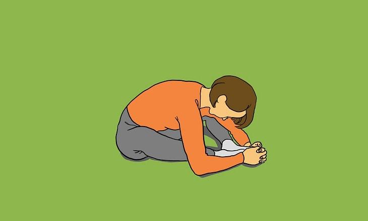Yin-Yoga-Pose Schmetterling als Illustration