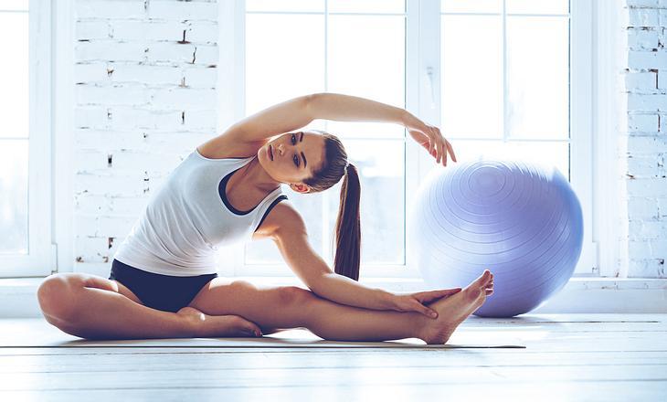 Yogafigur Seitbeuge